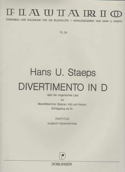 photo of Divertimento in D over a Hungarian song