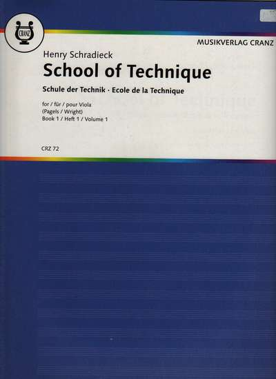 photo of The School of Technics, Book 1 for Viola