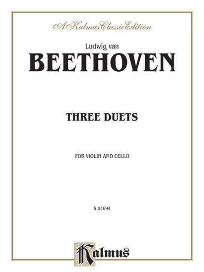 photo of Three Duets for violin and cello