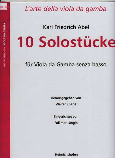 photo of 10 Solo works for Viola da Gamba without bass