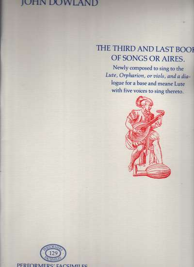 photo of The Third and Last Booke of Songs or Ayres, facsimile