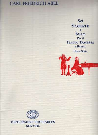 photo of Sei Sonate a Solo per il Flauto Traversa e Basso, Op. 6, facsimile