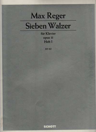 photo of Seven Walzes for piano, Op. 11, Book 1