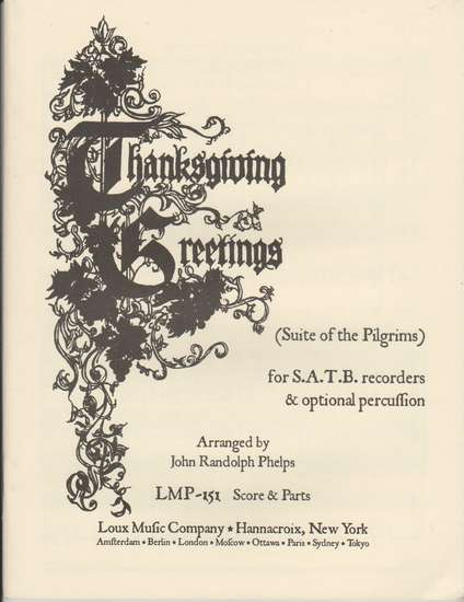 photo of Thanksgiving Greetings (Suite of the Pilgrims) hymn arrangements