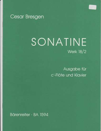 photo of Sonatine Op. 18/2 for soprano recorder and keyboard