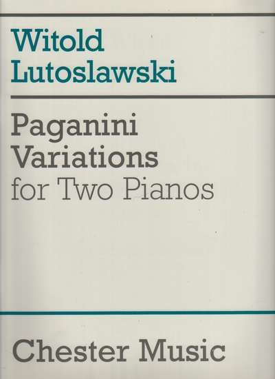 photo of Paganini Variations for Two Pianos