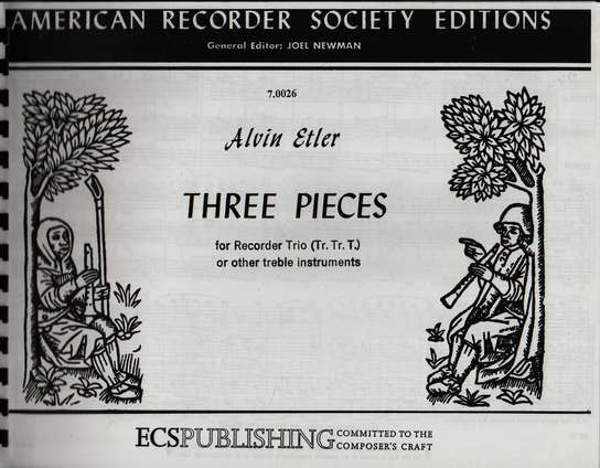 photo of Three Pieces for Recorder Trio
