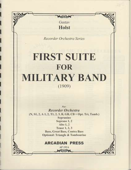 photo of First Suite for Military Band (1909)