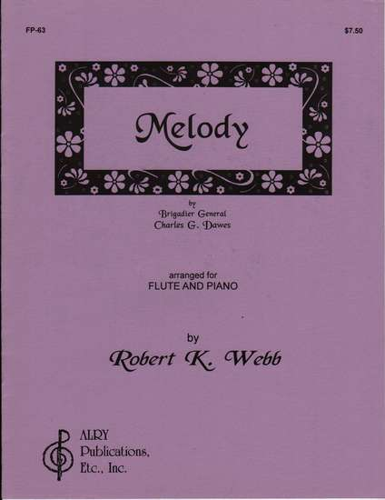 photo of Melody arranged for flute and piano