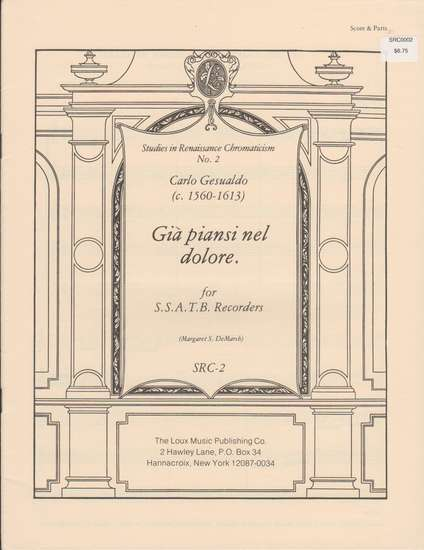photo of Studies in Renaissance Chromaticism 2, Gia piansi nel dolore
