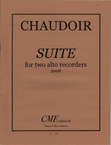 photo of Suite for two alto recorders 2008