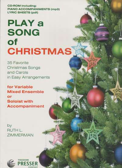 photo of Play a Song of Christmas, 35 Christmas Songs, CD Rom, mp3, pdf lyrics