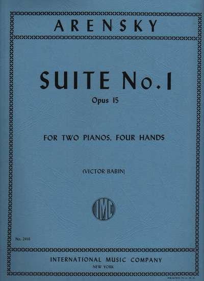 photo of Suite No. 1, Opus 15 for Two Pianos, Four Hands