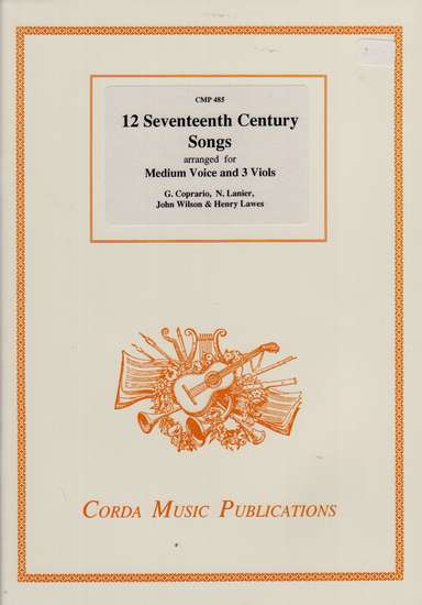 photo of 12 Seventeenth Century Songs for Medium Voice and 3 Viols