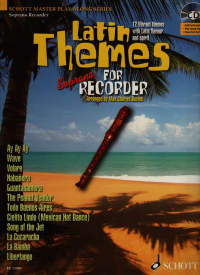 photo of Latin Themes for Soprano Recorder, 12 Tunes. Book