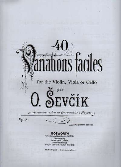 photo of 40 Variations faciles, Op. 3, Accompaniment