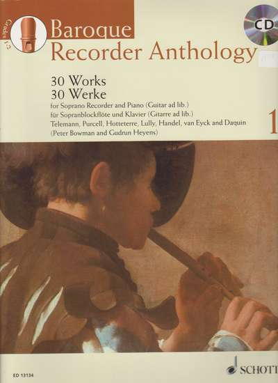 photo of Baroque Recorder Anthology, Vol. 1, 30 Works, CD, Soprano