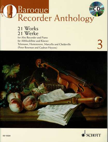 photo of Baroque Recorder Anthology, Vol. 3, 21 Works, CD, Alto