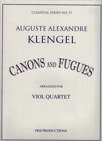 photo of Canons and Fugues arranged for Viol Quartet