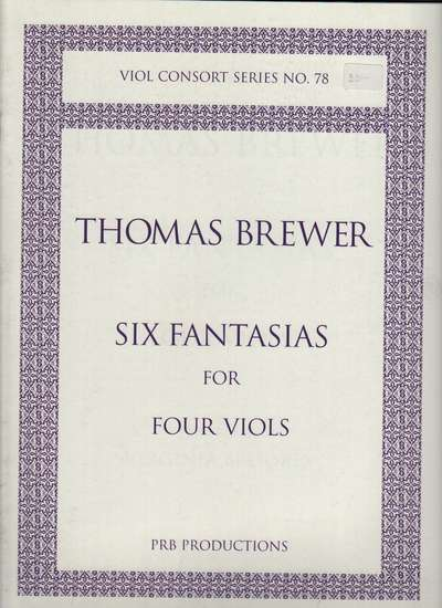 photo of Six Fantasias for Four Viols