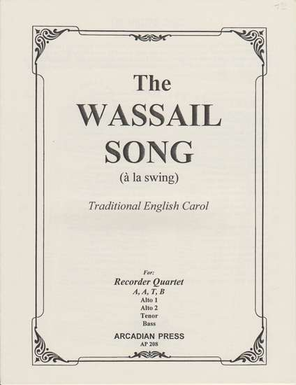 photo of The Wassail Song (a la swing)