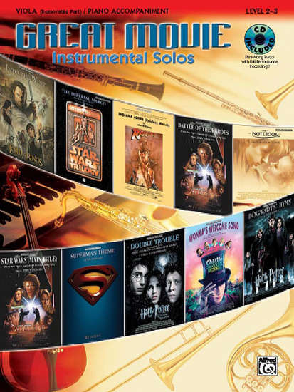 photo of Great Movie Instrumental Solos, Viola with accompaniment and CD