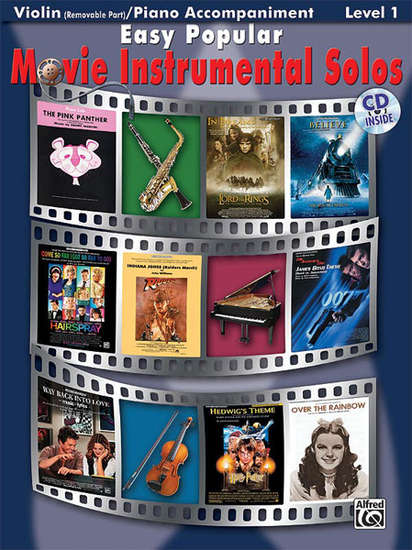 photo of Easy Popular Movie Instrumental Solos, Violin with accompaniment and CD