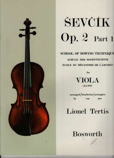 photo of School of Bowing Technique Op. 2, Part 1 for Viola