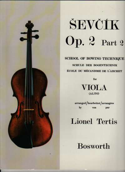 photo of School of Bowing Technique Op. 2, Part 2 for Viola