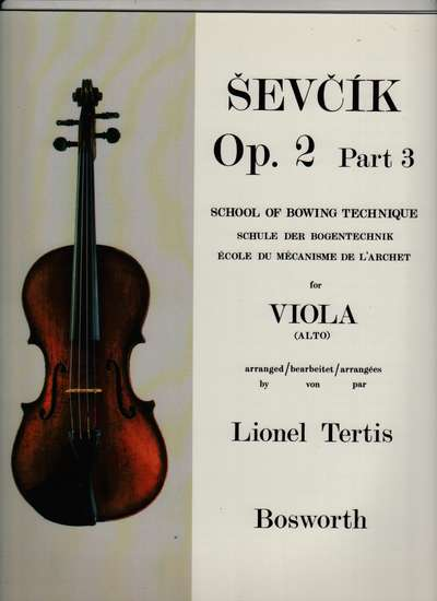 photo of School of Bowing Technique Op. 2, Part 3 for Viola