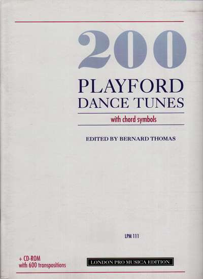 photo of 200 Playford Dance Tunes with chord symbols, with CD Rom