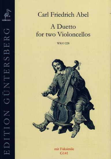 photo of A Duetto for two Violoncellos, WKO 228, with Facsimile