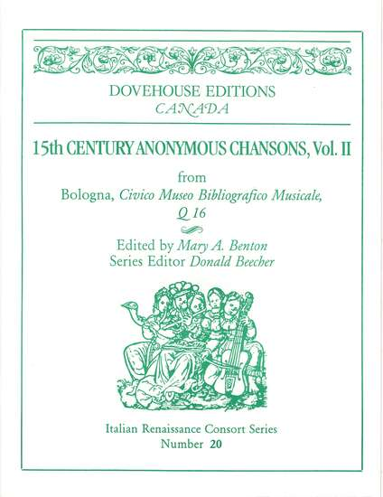 photo of 15th Cent. Anonymous Chansons, Vol. II
