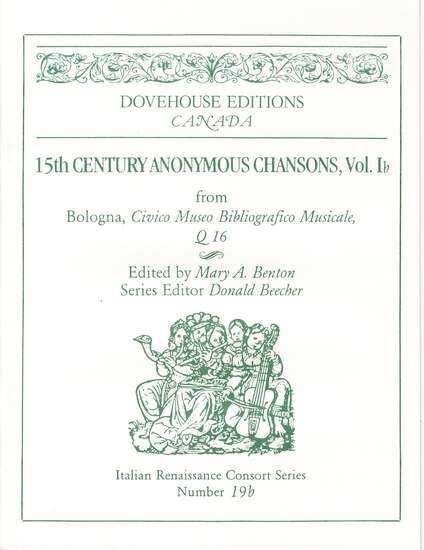 photo of 15th Cent. Anonymous Chansons, Vol. Ib