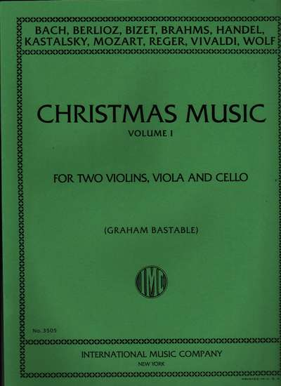 photo of Christmas Music, Volume I, for string quartet