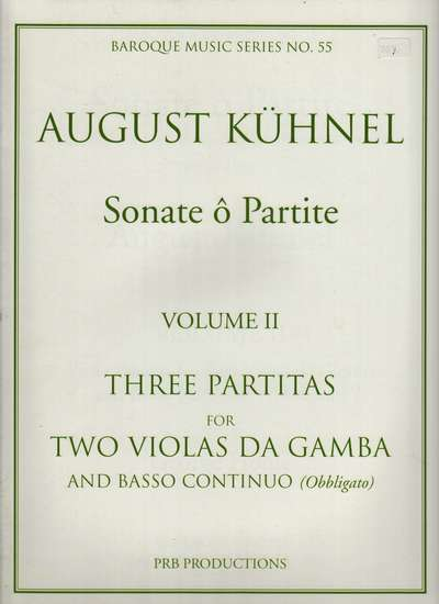 photo of Three Partitas a 2, Vol. II: IV a min., V Serenata c dorian, VI Echo C Maj.