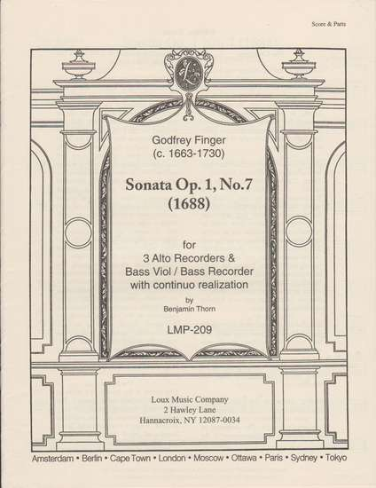 photo of Sonata Op. 1, No. 7