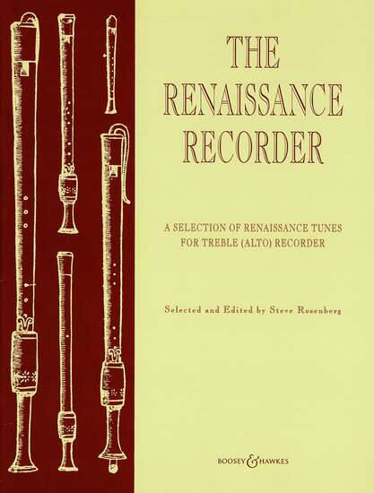 photo of The Renaissance Recorder, Selection of Tunes for the Alto
