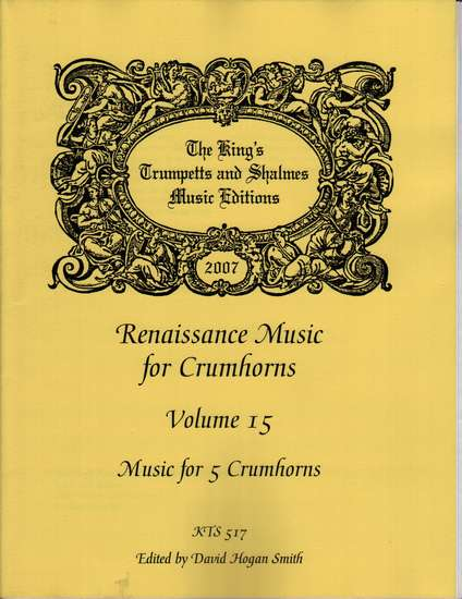 photo of Renaissance Music for 5 Crumhorns, Volume 15