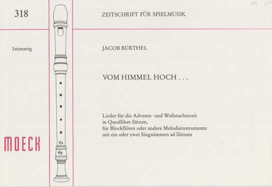 photo of Von Himmel Hoch, Songs for Advent and Christmas