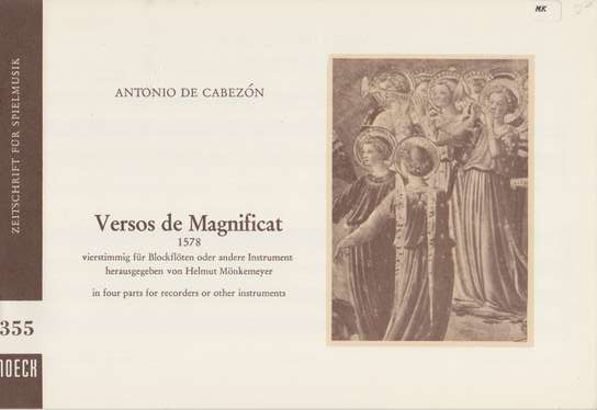 photo of Versos de Magnificat, 1578