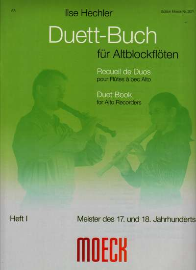 photo of Duet Book for Alto recorders, Masters of the 17th and 18th Centuries, Book I