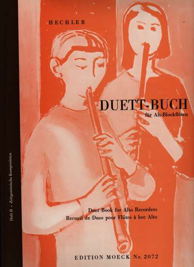 photo of Duet Book for Alto recorders, Contemporary Composers, Book II