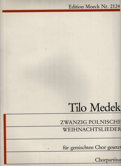 photo of 20 Polish Christmas Songs for Mixed choir, text in German