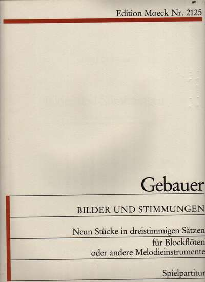 photo of Bilder und Stimmunger, Pictures and provisions, 9 Pieces