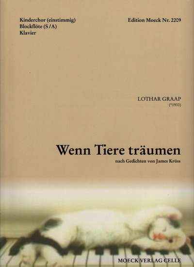 photo of Wenn Tiere traumen, If Animals Dream, German text