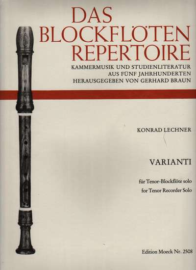 photo of Varianti for Tenor Recorder (modern technique)