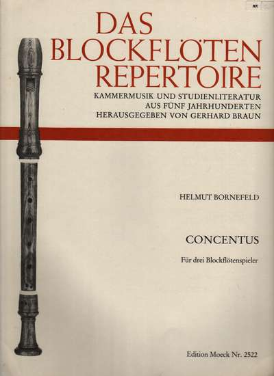 photo of Concentus for three recorder players (modern technique)