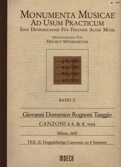 photo of Monumenta Musicae, Canzoni for 4 and 8 voices, Book II