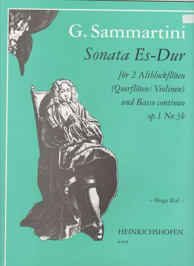 photo of Sonata in E flat major, Op.1 Nr. 3b